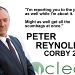 CLEAR election poster for the Corby by-election.