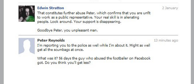 Peter Reynolds threatens Edwin Stratton, a medicinal cannabis user, with the police