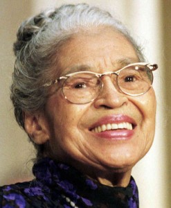 Rosa Parks refused to obey bus driver James F. Blake's order that she give up her seat in the colored section to a white passenger, after the white section was filled.