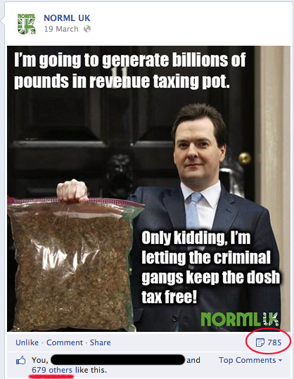 George Osborne cannabis meme on NORML UK
