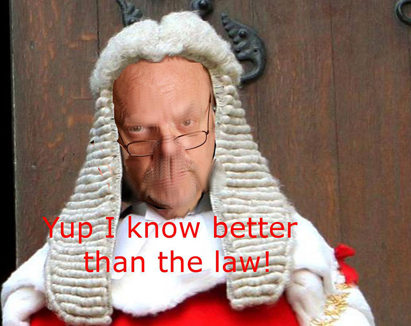 Peter John Reynolds: I know better than the law.