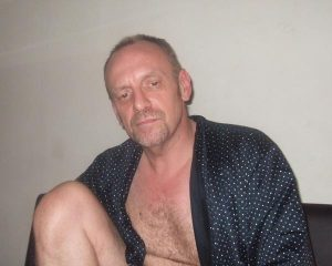 Peter in his wanking gown